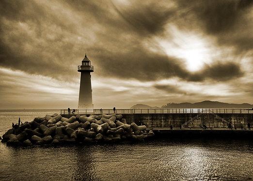 Cheongsapo lighthouse - Sepia - ARTLIT™