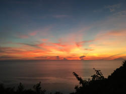 Sunset at Kai Bae View Point.  Getting sround Koh Chang
