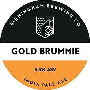 Gold Brummie Beer Pump Clip