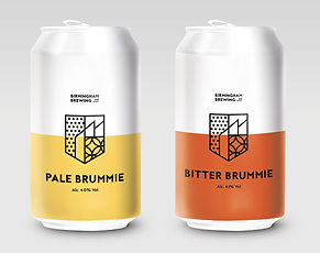 Cans of Pale Brummie and Bitter Brummie Beer