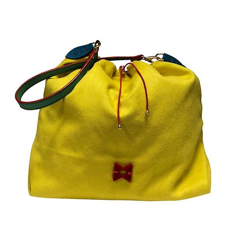 Suede - Not Skin - Yellow Balloon Bag - Tamanho M