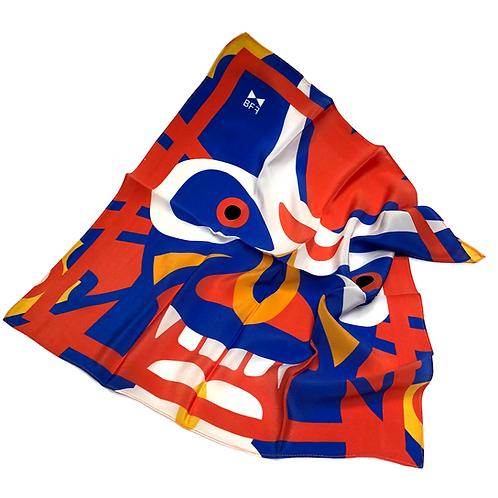 Lenço Seda Pura - Mask 1 - Tamanho P