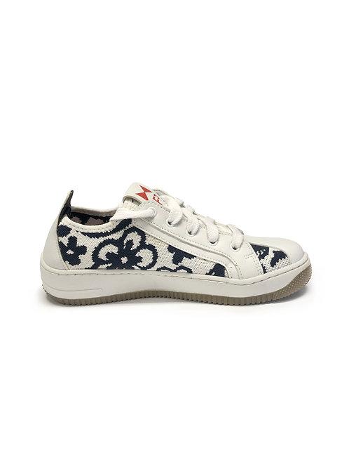 Sneaker NOT SKIN KNIT Floral Azul e Branco