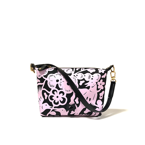 Mini Floral Pink and Black - Size Small