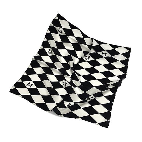 Lenço Seda Pura - Black Tie - Tamanho P