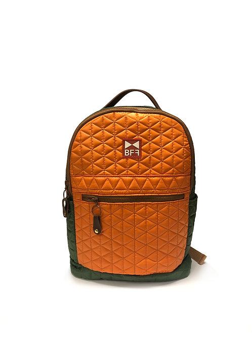 Mochila Matelassê verde e laranja - Tamanho M