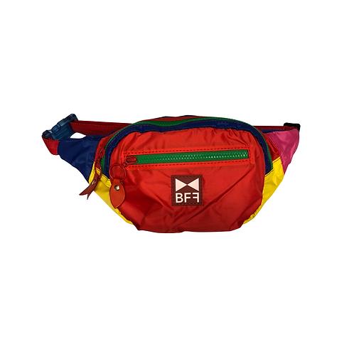 Pochete Nylon colorida frente red 2