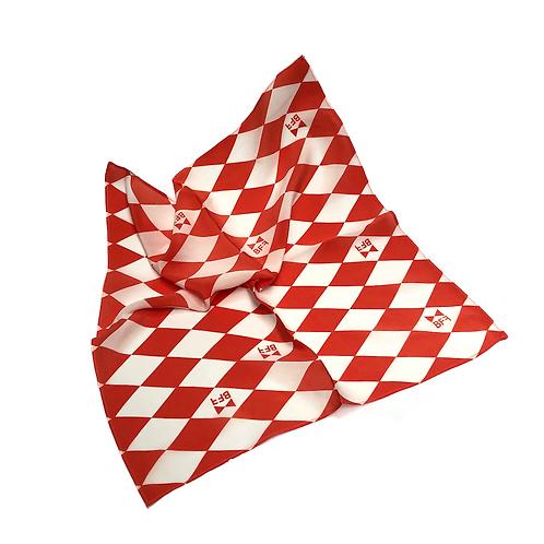 Lenço Seda Pura - Red Tie - Tamanho P