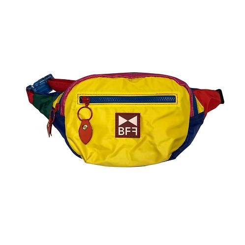 Pochete Nylon colorida frente amarelo