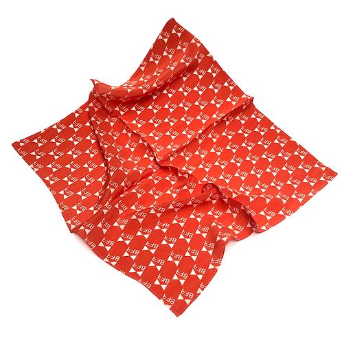 Lenço Seda Pura - Red Logo - Tamanho P