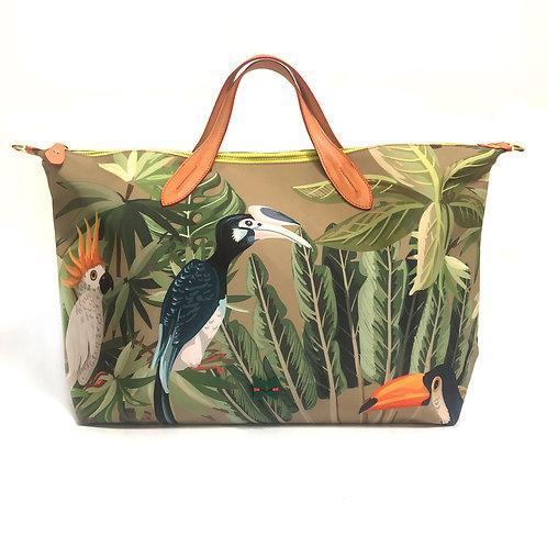 Tropical Khaki Canvas Fine Art - Tamanho G