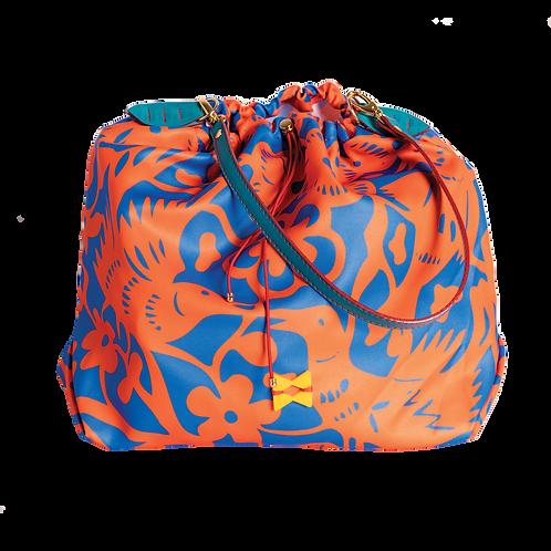 Blue and Orange Birds Balloon Bag