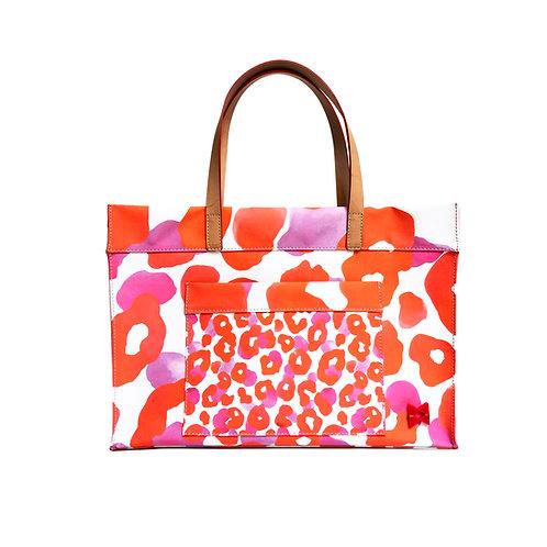 Happy Animal Print Belle Tote - Canvas Fine Art - Tamanho M