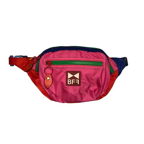 Pochete Nylon colorida frente pink 3