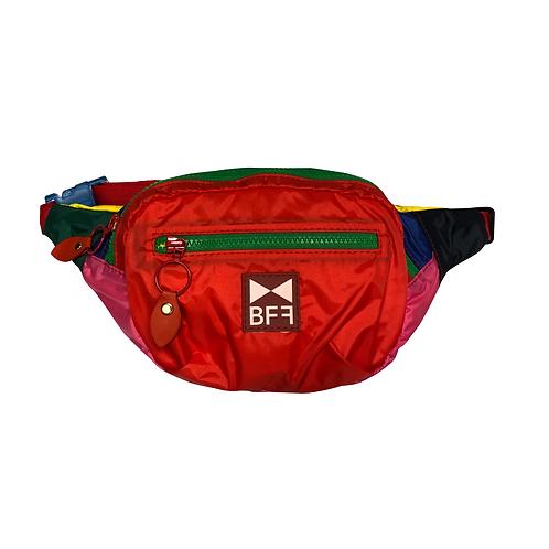 Pochete Nylon colorida frente red 1