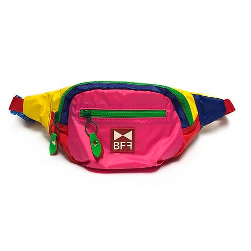 Pochete Nylon Colorida frente Rosa Pink
