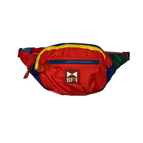 Pochete Nylon colorida frente red 3