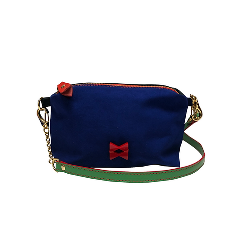 Mini Suede Vivid Blue and Dark Green - Not Skin - Tamanho PP