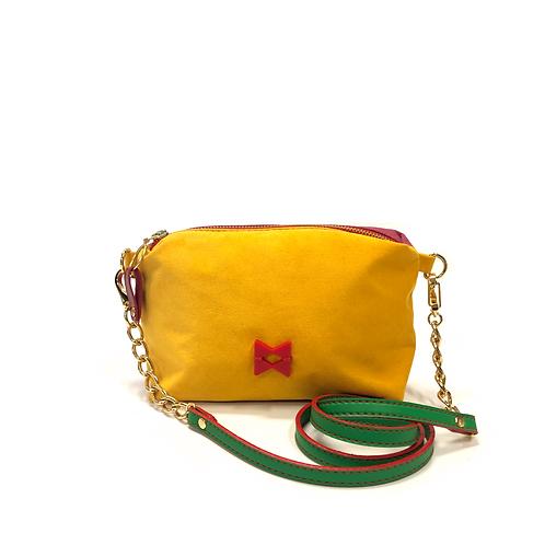 Mini Suede Bicolor Amarela e Rose - Not Skin - Tamanho PP