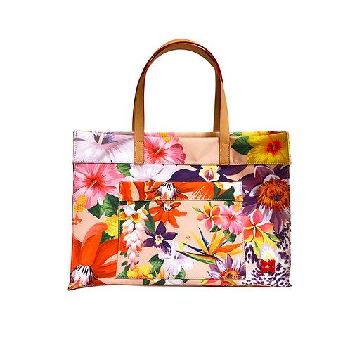 Floral Belle Tote Canvas Fine Art - Tamanho M