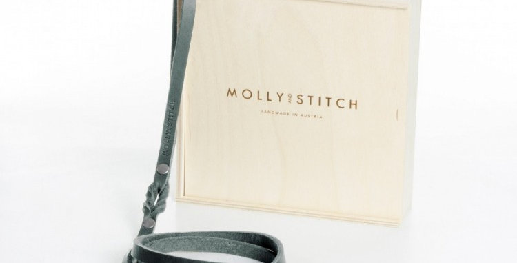 "Molly &Stitch - Timeless Grey ""Butter"" Leather City Dog Leash"