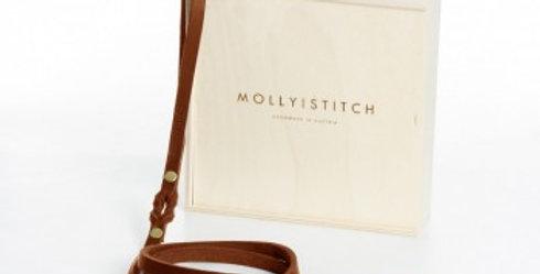 "Molly & Stitch - Sahara Cognac ""Butter"" Leather City Dog Leash"