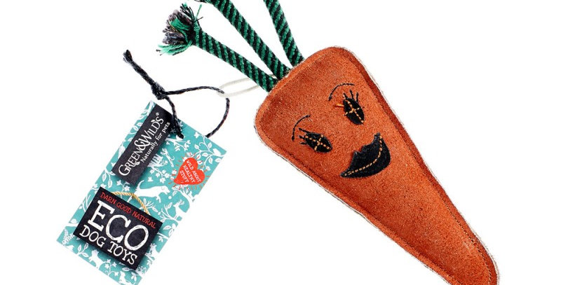 Green and Wilds candice the carrot eco friendly dog toy