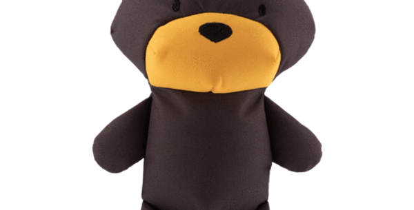 BECO | Toby The Teddy Bear | Stuffed Dog Toy | Recycled Dog Toy