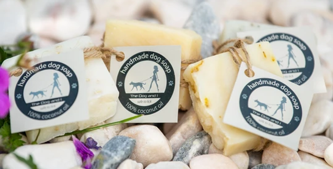 The Dog and I Natural Handmade in the UK dog soap unscented oatmeal