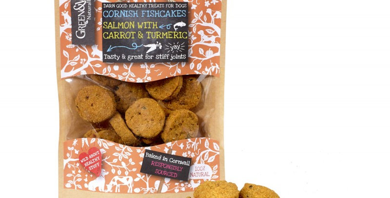 Green & Wilds - Cornish Fishcakes with Salmon & Turmeric - Natural dog treats