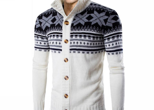 thanks for shopping our cardigans and sweaters collections this listing is for a white christmas button down knitwear sweater