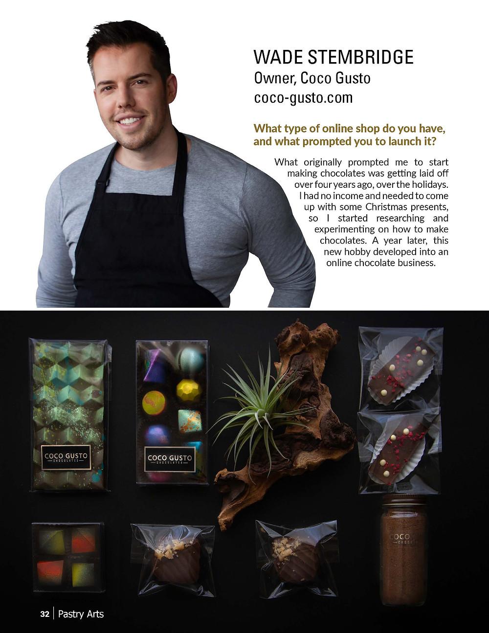 Wade Stembridge - Coco Gusto Colorado Artisan Chocolate Shop