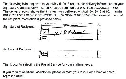 2018 May 5 USPS signed receipt by Illinois PC Springfield  cropped.jpg