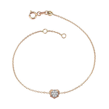 Kismet by Milka 14ct rose gold zodiac bracelet Leo