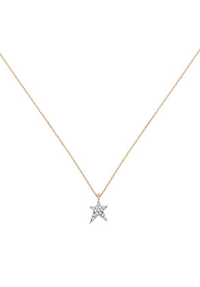 Kismet by Milka 14ct rose gold and diamond struck star necklace