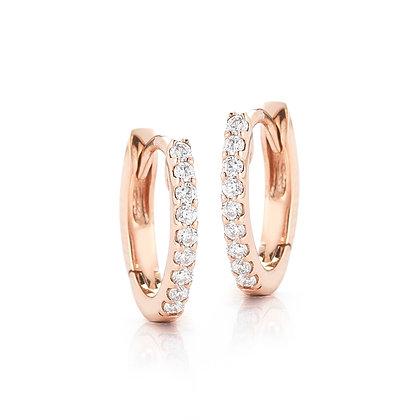 Dana Rebecca 14ct rose gold and diamond mini huggie earrings