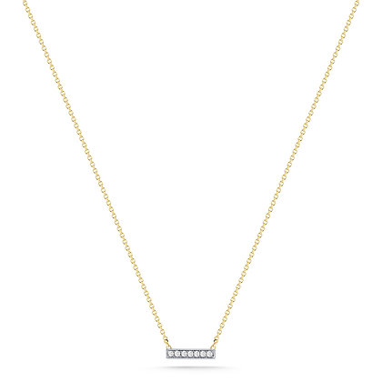 Dana Rebecca 14ct gold and diamond Sylvie Rose bar necklace