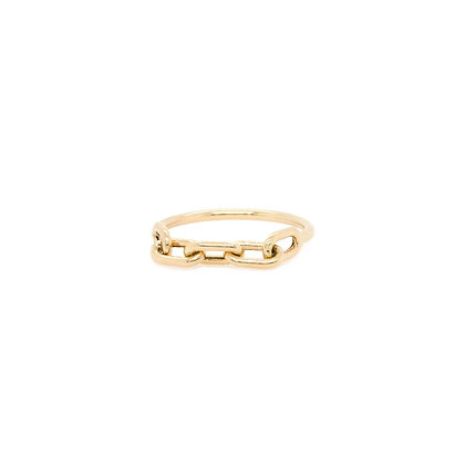Zoe Chicco 14ct gold link chain ring