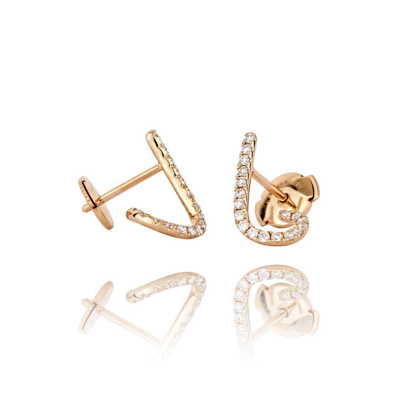 Modernist crawlers earrings