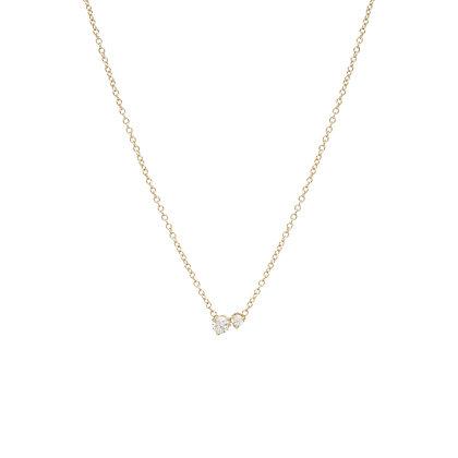 Zoe Chicco 14ct gold and diamond pendant