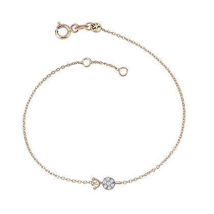 Kismet by Milka 14ct rose gold zodiac bracelet Aquarius