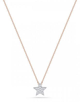 Dana Rebecca 14ct rose gold and diamond Julianne Himiko star necklace