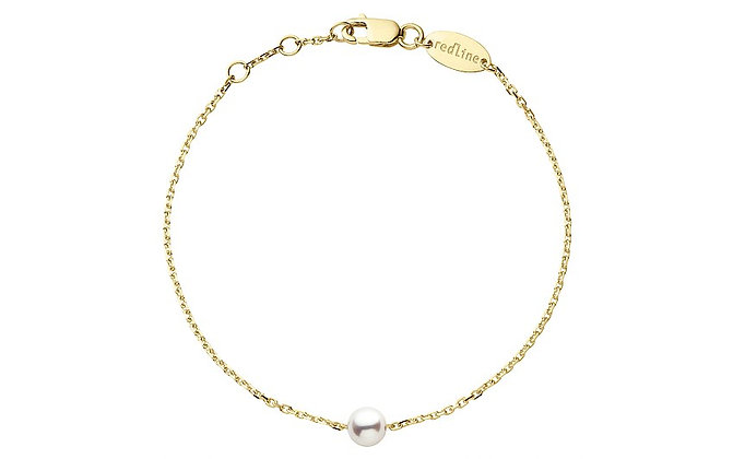 Redline 18ct gold and pearl Sensuelle chain bracelet