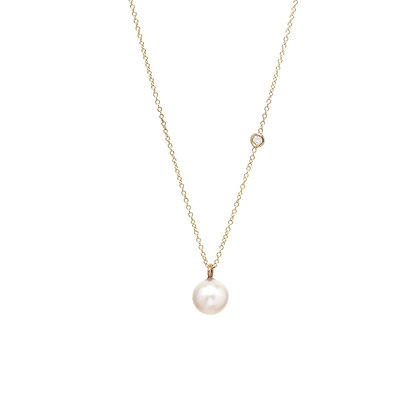 Zoe Chicco 14ct gold, pearl and diamond necklace