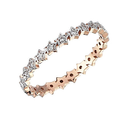 Kismet by Milka 14ct rose gold and diamond multi star ring