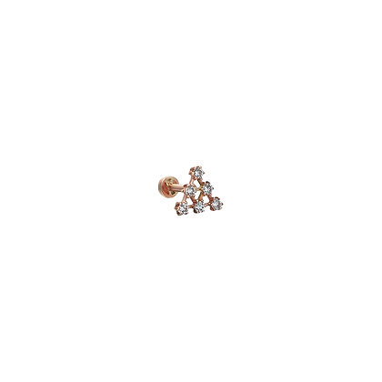 Kismet by Milka 14ct gold and diamond triangle piercing (single)
