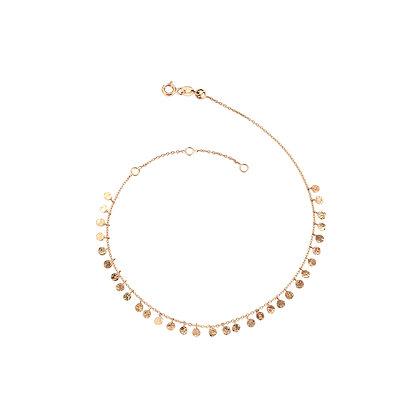 Kismet by Milka 14ct rose gold bead anklet