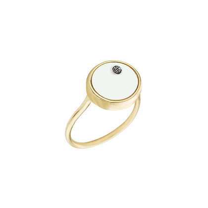 The Alkemistry 18ct gold 'Orion' Cancer ring
