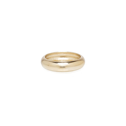 Zoe Chicco 14ct gold thick half round ring