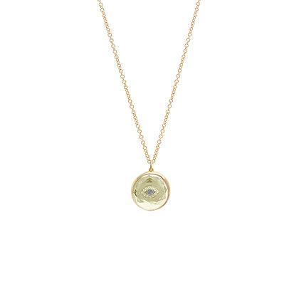 Noush 14ct gold and diamond evil eye necklace